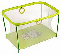 Манеж детский игровой KinderBox люкс Желтый Hello Kitty с мелкой сеткой (km 78), фото 1