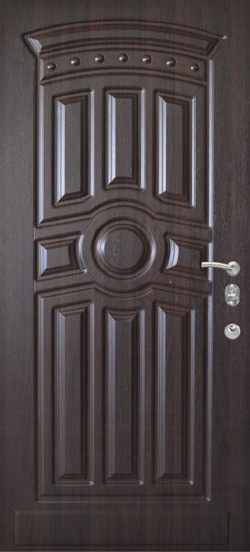 Двери квартирные, модель 168 Комфорт 970*2050, коробка 110мм, KALE, 3контура уплотнения, венге темный
