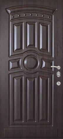 Двери квартирные, модель 168 Комфорт 970*2050, коробка 110мм, KALE, 3контура уплотнения, венге темный, фото 2