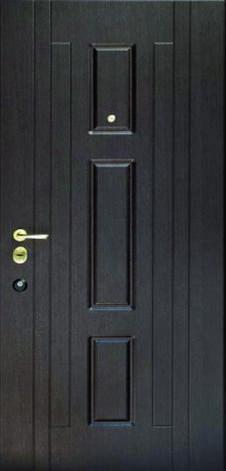 Двері квартирні, модель 171 Комфорт, коробка 110 мм, замки KALE, 970*2050, 3 контури ущільнення, глухі, фото 2