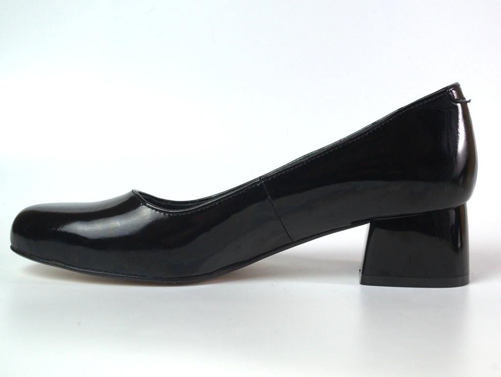 Туфли лаковые классические кожаные лодочка женская обувь Puro Black Lether BS by Rosso Avangard