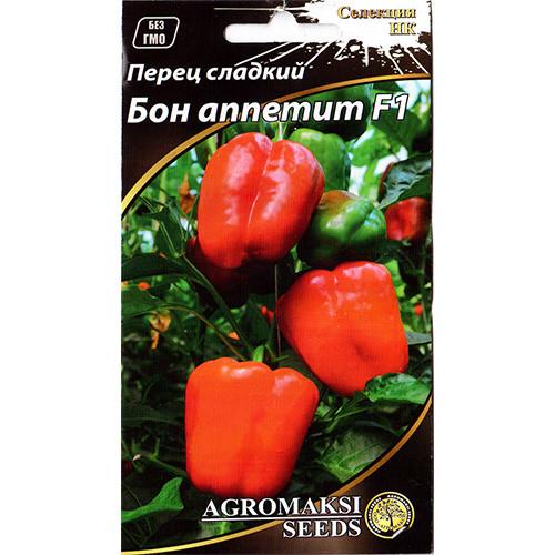 """Семена перца среднеспелого, сладкого """"Бон аппетит"""" F1 (0,2 г) от Agromaksi seeds"""