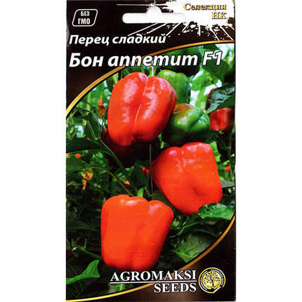 "Семена перца среднеспелого, сладкого ""Бон аппетит"" F1 (0,2 г) от Agromaksi seeds, фото 2"