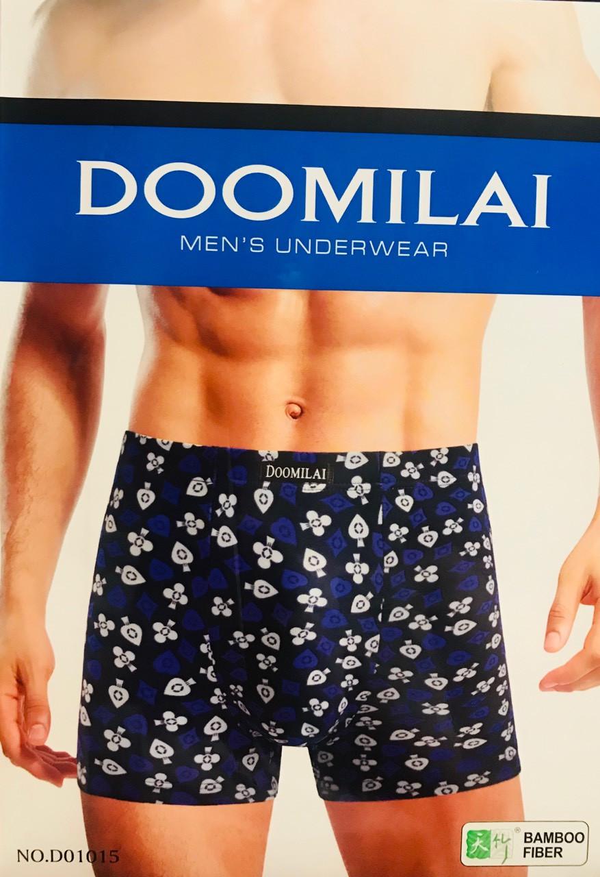 Труси чоловічі боксери бамбук DOOMILAI розмір XL-4XL(48-54) 01015