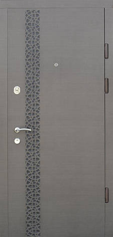 Двери квартирные, модель 172 Комфорт, 970*2050, коробка 110 мм, три контура уплотнения, замки KALE, глухие, фото 2