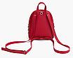 Рюкзак женский мини с заклепками Серый, фото 3