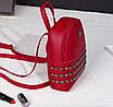 Рюкзак женский мини с заклепками Серый, фото 4