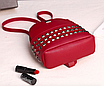Рюкзак женский мини с заклепками Серый, фото 5