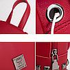 Рюкзак женский мини с заклепками Серый, фото 7