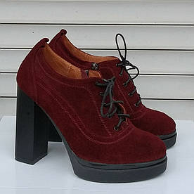 Туфли женские  №047-бордовые (39)