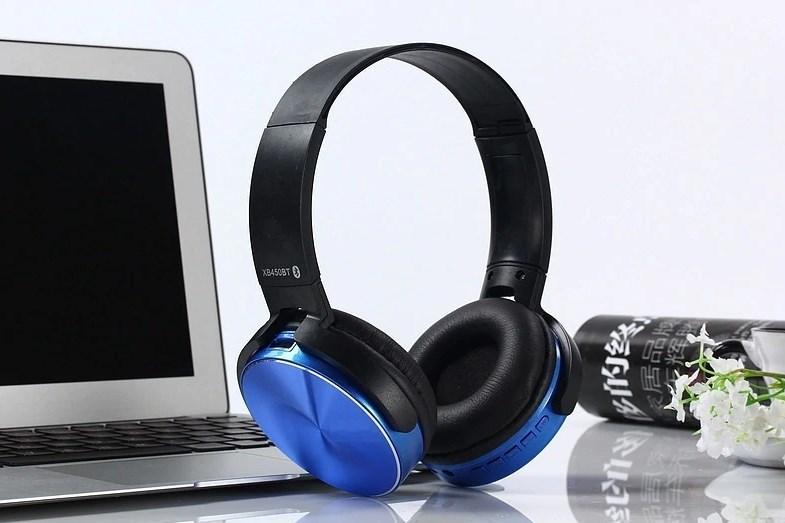 Беспроводные наушники Bluetooth / microSD XB450BT синий