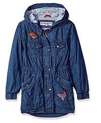 Легкая джинсовая парка с аппликацией и вышивкой на девочку Urban republic Оригинал (Размер М 10-12)