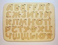 Деревянный украинский алфавит(азбука) 48х37см.