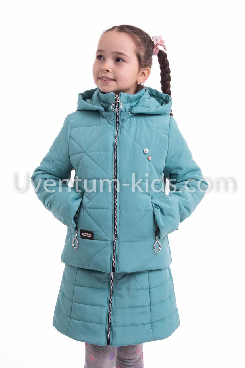 Демисезонная куртка для девочек  от производителя 34-42 ментол