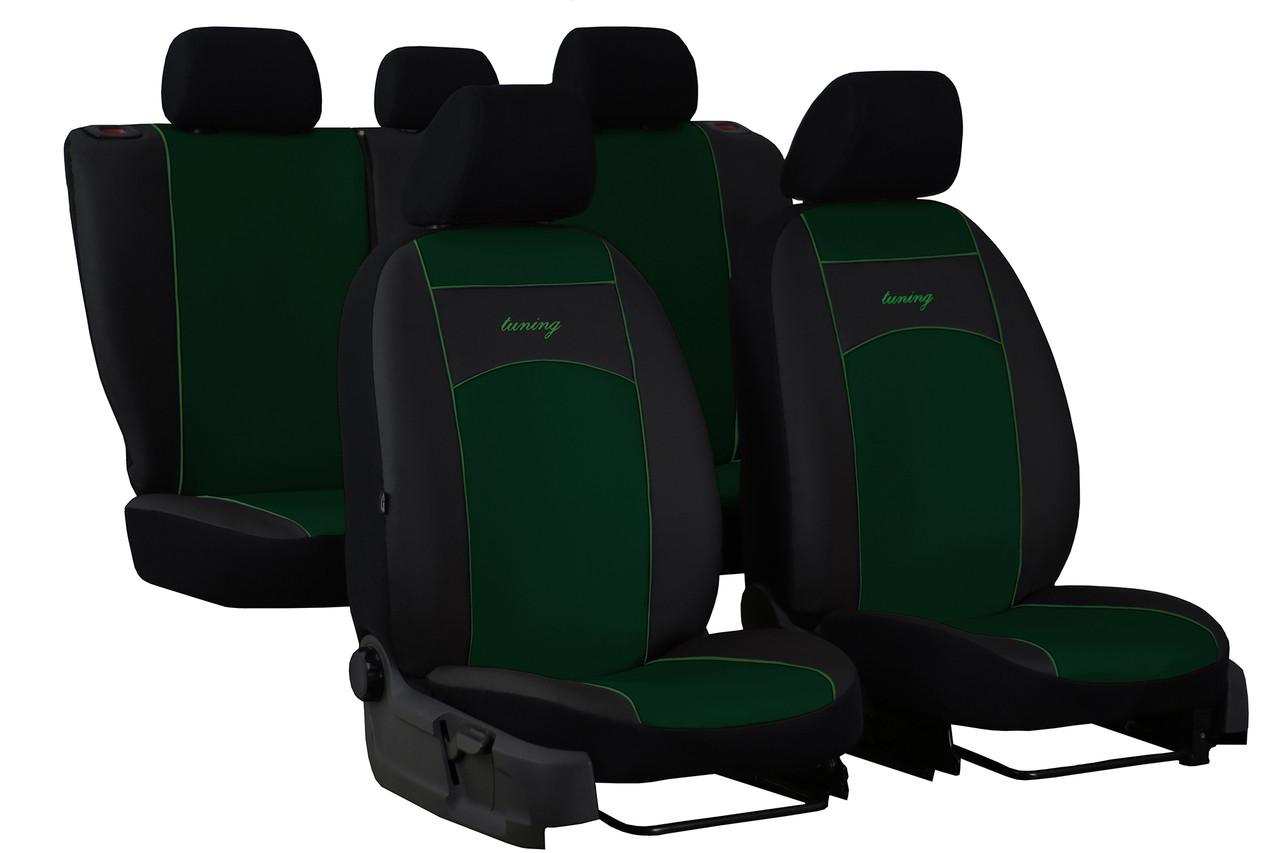 Авточохли універсальні (повний набір) Pok-ter Standart з екошкіри зелений