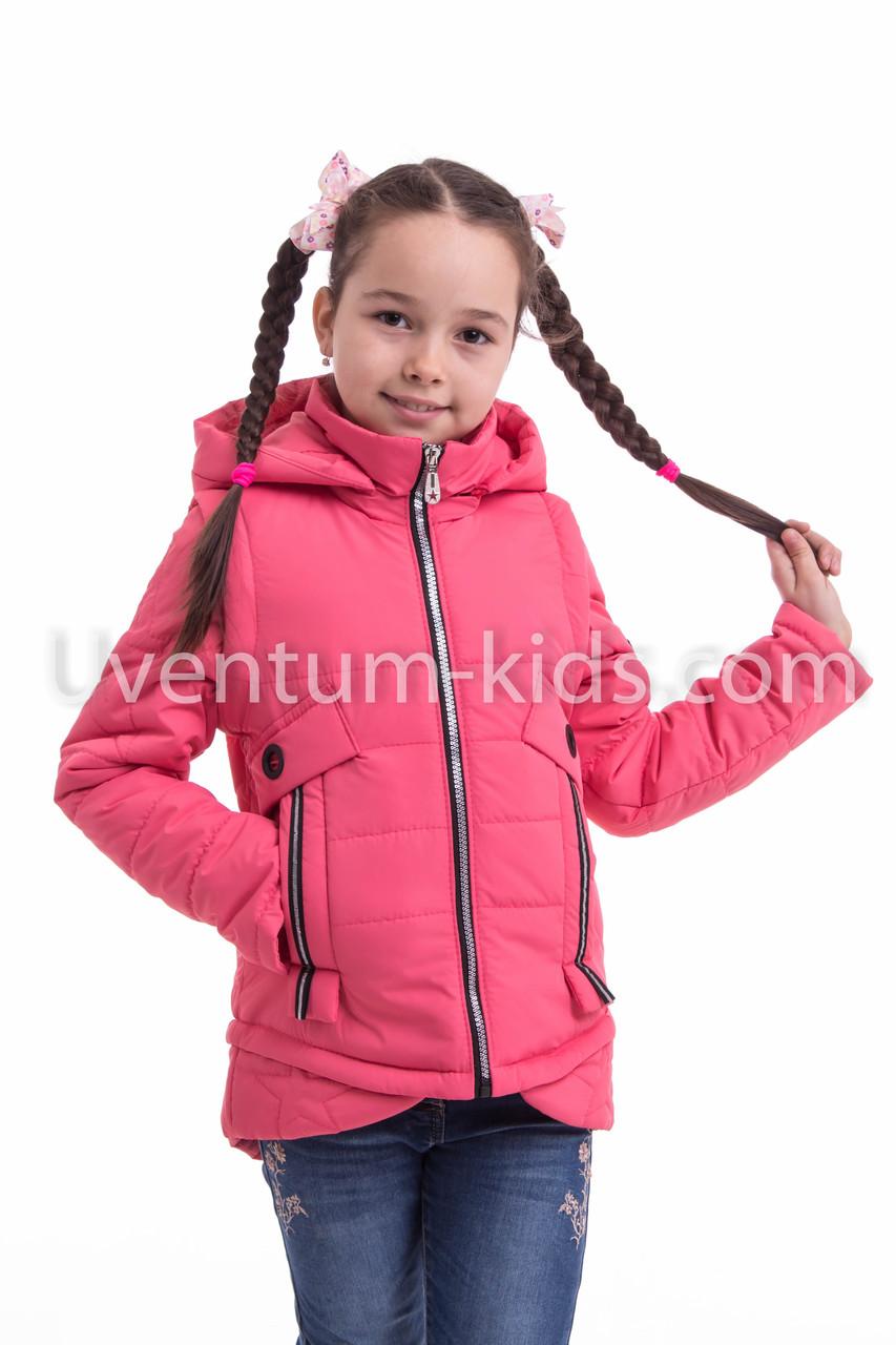 Куртка демисезонная на девочку  интернет магазин 32-42 коралл
