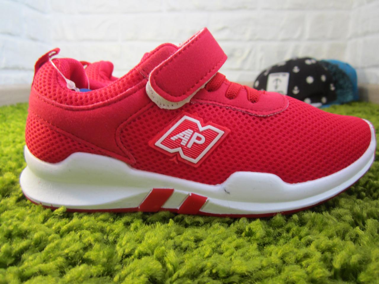 4f7b5a206 Детские легкие кроссовки Apawwa для мальчиков красные на шнурках с липучкой  - Kramwell - Всегда very