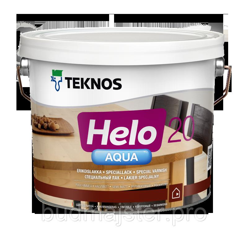 Лак Teknos Хело Аква 20 півматовий, 9 л