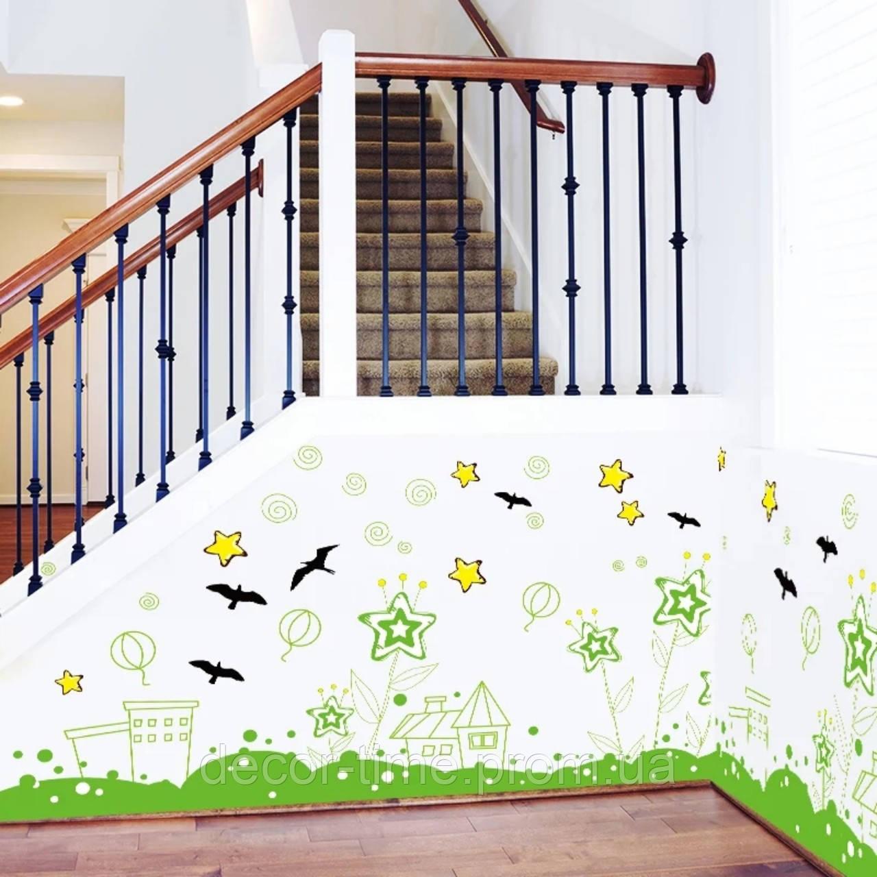 Вінілова наклейка на стіну, меблі для дому, кафе, дитячого садка (64537)