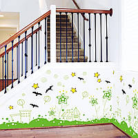 Виниловая наклейка на стену, мебель для дома и кафе, детского сада  (64537)