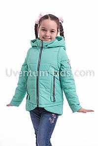 Куртка для девочки на весну  интернет магазин 32-42 бирюза