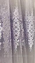 Фатиновая тюль с нежными полями 2104 белого цвета, фото 3