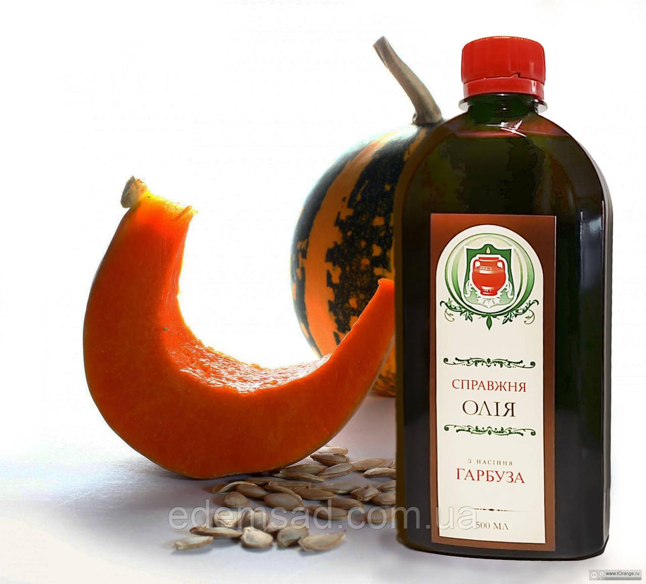 """Олія з гарбузового насіння """"Справжні Скарби"""", 250мл"""