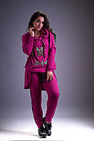 Женский брючный костюм для активного отдыха . кофта скапюшоном. Размеры:48-50,52-54,56,58,60,62. + Цвета