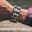 Браслет мужской металлический мультитул (реплика Leatherman Tread) Metric-Stainless черный, фото 3
