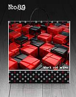 "Пакет з пластиковою ручкою 40х45 10шт. ""Block red white"""