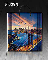 """Пакет з пластиковою ручкою 40х45 10шт. """"New York City"""""""