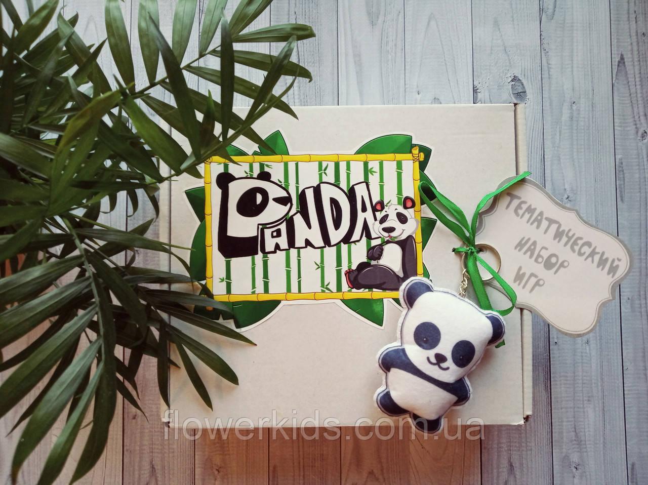 """Набор авторских развивающих игр в коробке """"Панда"""""""