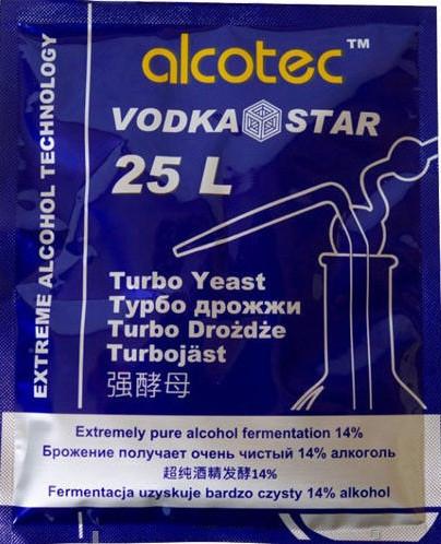 Спиртовые турбо - дрожжи Alcotec VODKA STAR 25L