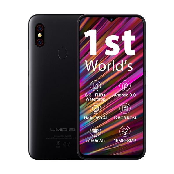 Смартфон Umidigi F1 4/128gb Black MediaTek Helio P60 5150 мАч