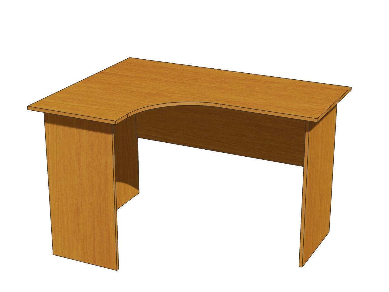 Стол угловой эргономичный ШхГхВ: 1200х900х750 мм.