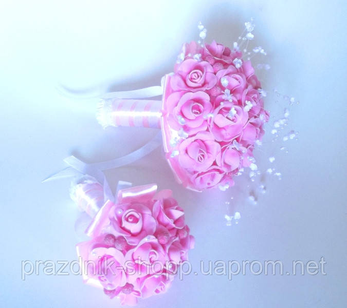 Комплект. Букет дублер, розово белый.