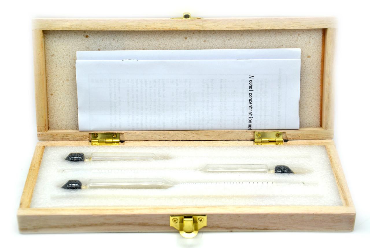 Набор АСП3+термометр 0-50 градусов (Деревянный футляр)