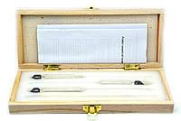 Набор АСП3+термометр 0-50 градусов (Деревянный футляр), фото 1