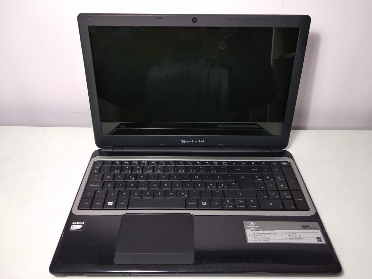 "Ноутбук Acer Packard Bell TE69KB /AMD E1-2500 1.4GHz/6Гб/15.6""/AMD Radeon HD 8240"