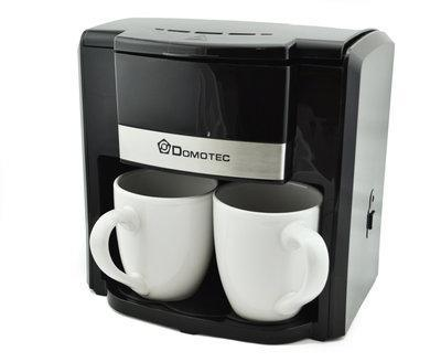 Кофеварка Domotec на 2 чашки 500W