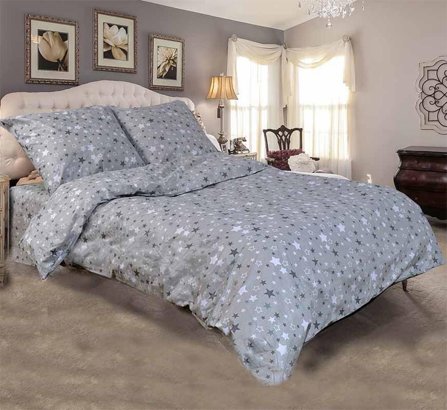 Двуспальный комплект постельного белья евро 200*220 хлопок  (11320) TM KRISPOL Украина
