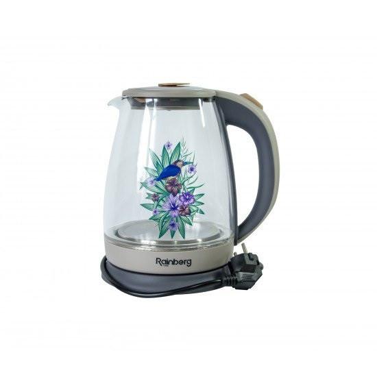 Заварочный стеклянный чайник с зеленой ручкой 600 мл купить в ...   550x550