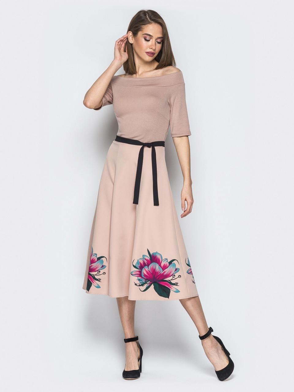 5adb2af5350 Стильное женское платье в пастельных тонах р.44