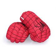 Огромные мягкие перчатки в виде кулаков Человека Паука. Перчатки красные