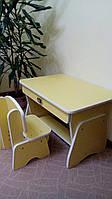 """Детский столик """" Лимон/Белый """""""