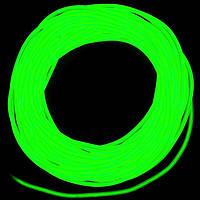 Холодный неон / электролюминисцетный провод 3-го поколения 5 мм, лайм (розница, опт)