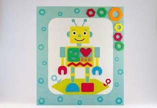 """Мягкая открытка """"Робот"""""""