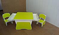 """Детский столик 2 """" Растишка Лайм/Белый """""""