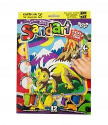 """Картина из песка """"Sandart"""" Трицератопс"""