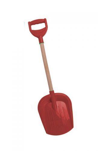 Лопатка малая с деревянной ручкой (красная)